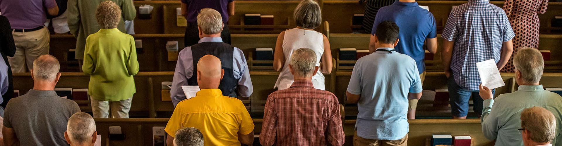 people in church pews